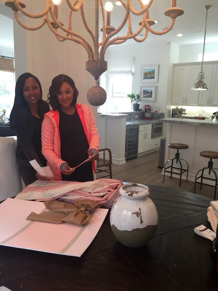 "Shalena with Tamera Mowry-Housley designing her ""Pretty and Pink"" Nursery."