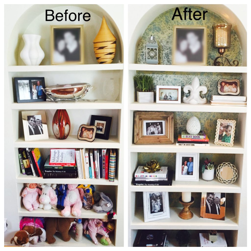 Declutter and organize. The add a few new accessories.