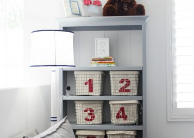 Red, White, and Blue Playroom – Los Angeles In-Home Interior Design