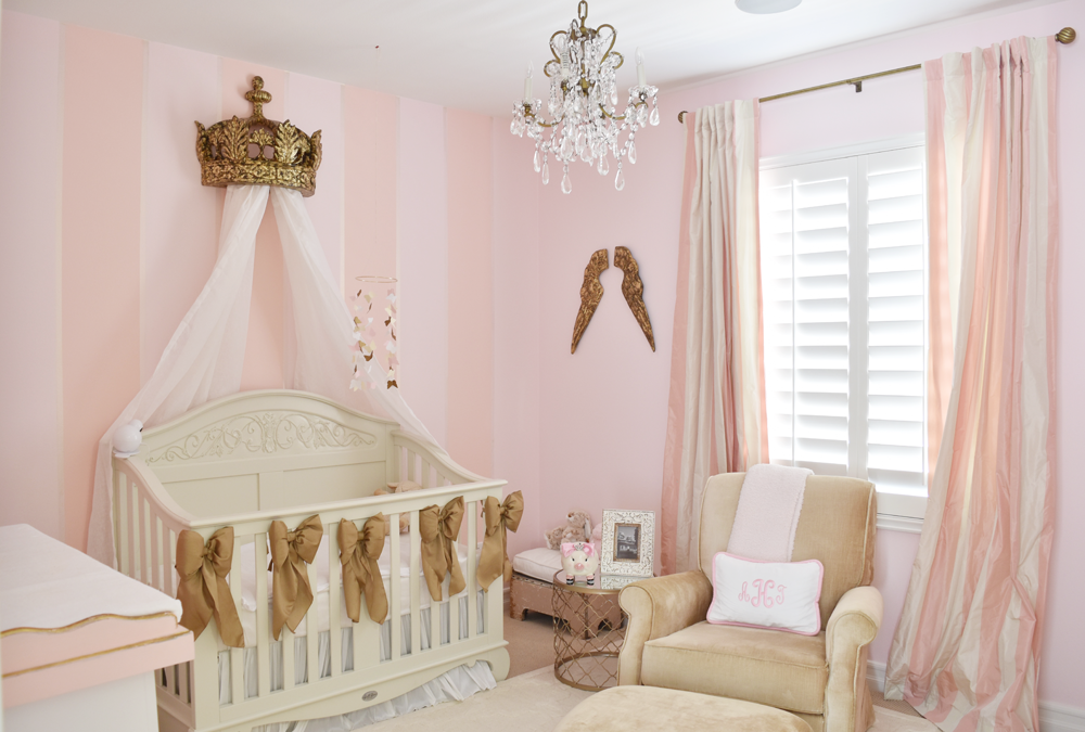 Powerful In Pink – Los Angeles In-Home Nursery Design